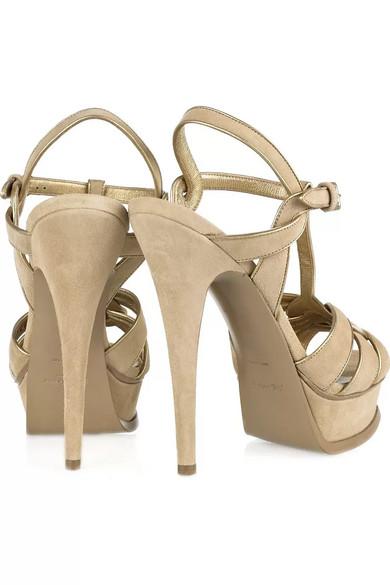 02c8d7819fb Yves Saint Laurent. Tribute suede sandals.  497.50. Zoom In
