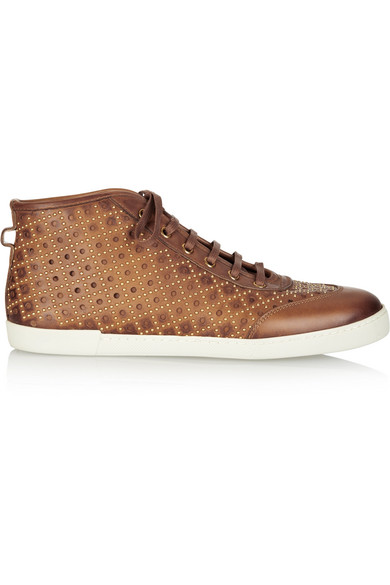 509fbff6dd7 Gucci. Studded leather high-top sneakers