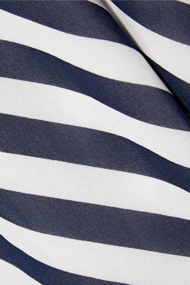 MICHAEL Michael Kors Gestreiftes Maxikleid aus Chiffon mit Kettendetail Niedrigsten Preis Online Freies Verschiffen Wirklich Neue Stile Zu Verkaufen Bester Preiswerter Großhandelspreis Bester Verkauf Günstig Online trLKM4Gq
