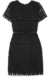 Guipure lace mini dress