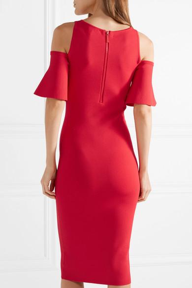 Cold-shoulder Stretch-knit Dress - Red Michael Kors WuoEnsX2