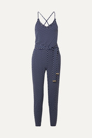 MICHAEL Michael Kors Polka-dot stretch-jersey jumpsuit