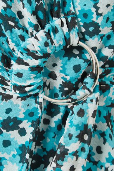 MICHAEL Michael Kors Springtime Wickelkleid aus Georgette mit floralem Print Günstig Kaufen Für Schön UG0PJ0x