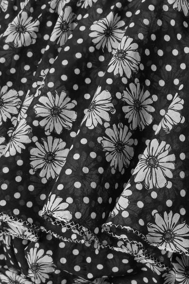 Lisa Marie Fernandez Arden Maxikleid aus bedrucktem Baumwoll-Voile mit asymmetrischer Schulterpartie