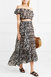 Lisa Marie Fernandez Nicole printed cotton-voile maxi skirt