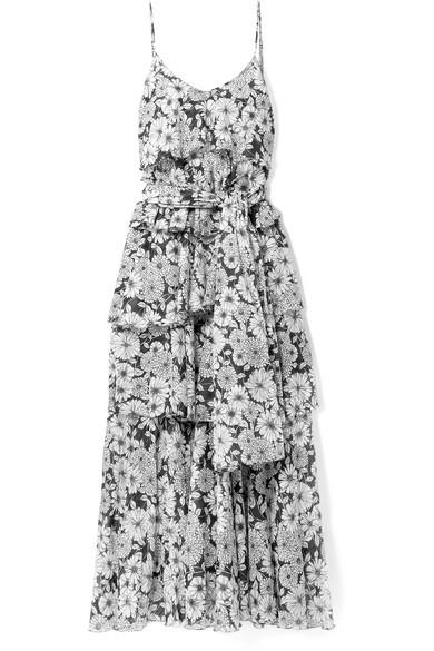Lisa Marie Fernandez Imaan gestuftes Maxikleid aus Baumwoll-Voile mit Blumendruck
