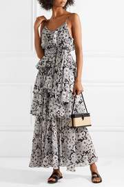 Imaan tiered floral-print cotton-voile maxi dress