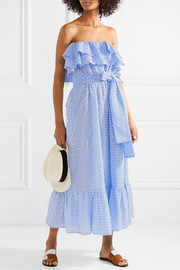 Sabine ruffled broderie anglaise cotton dress