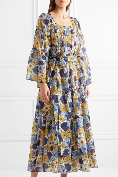 Lisa Marie Fernandez Kleid aus Baumwoll-Voile mit Blumendruck