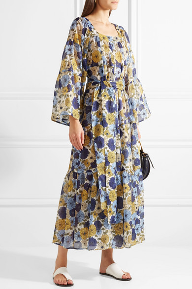 Lisa Marie Fernandez Dress In Cotton Voile With-floral Print