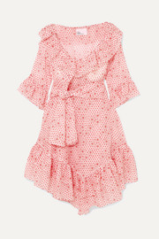 Laura ruffled printed cotton-voile dress