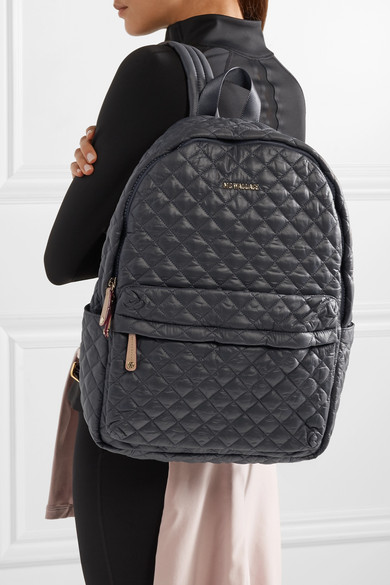 0f23f8c167 MZ Wallace. Metro medium leather-trimmed quilted shell backpack