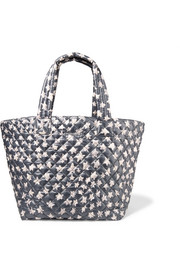 Metro printed quilted shell tote