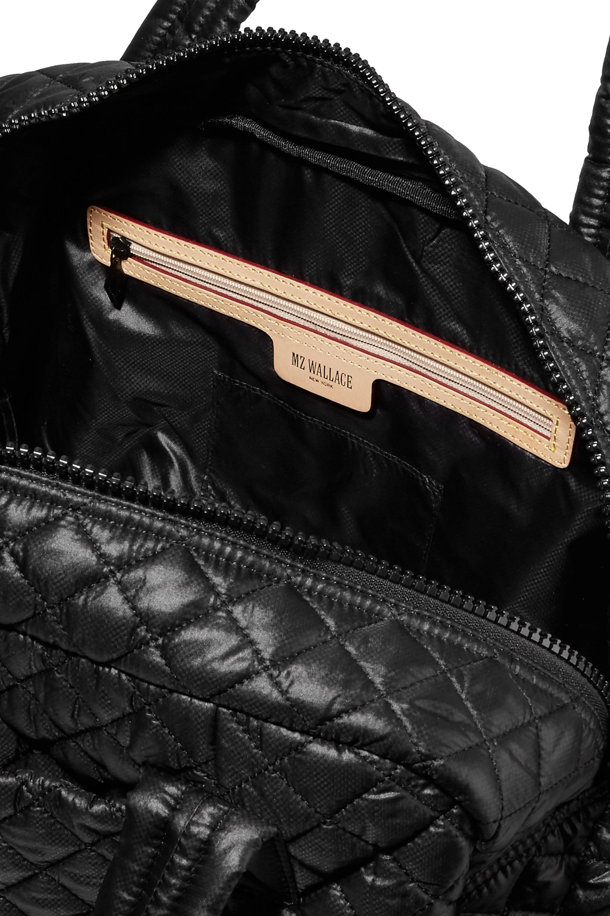 MZ Wallace Jimmy leather-trimmed quilted shell tote