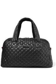 Jimmy leather-trimmed quilted shell tote