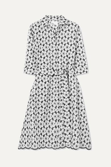Lisa Marie Fernandez Kleid aus Baumwolle mit Lochstickerei