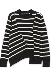 Proenza Schouler Asymmetric striped cotton-blend sweater