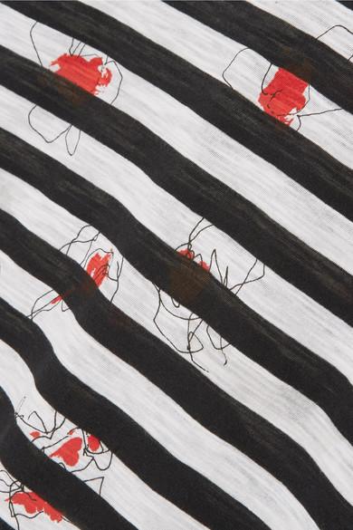 Proenza Schouler Bedrucktes Oberteil aus Baumwoll-Jersey