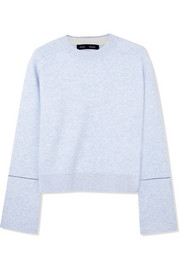 Mélange cotton-blend sweater