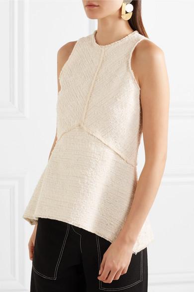 Proenza Schouler Oberteil aus Bouclé-Tweed aus einer Baumwollmischung