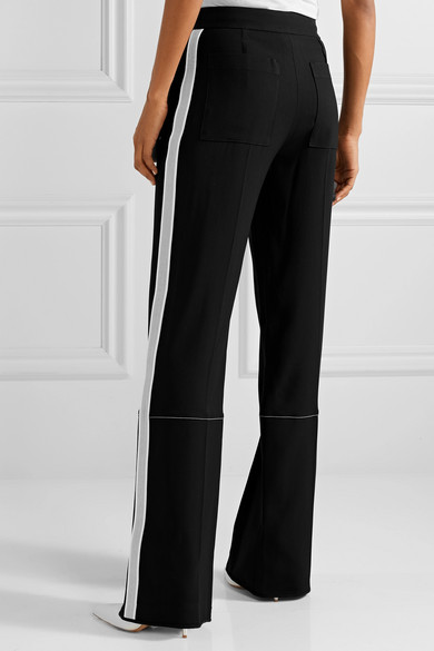Proenza Schouler Striped Pants With Wide Leg From Crêpe
