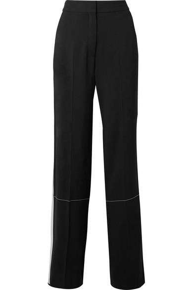 Pantalon Large Rayé Proenza Schouler En Crêpe