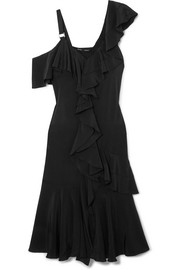 Proenza Schouler Ruffled silk crepe de chine dress