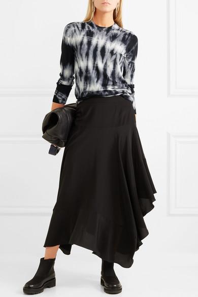 Proenza Schouler Pullover aus Merinowolle mit Batikmuster
