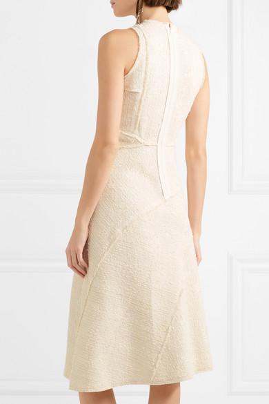 Proenza Schouler Midikleid aus Bouclé-Tweed aus einer Baumwollmischung Bester Großhandel Günstig Online KKGUTmaN