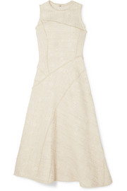 Proenza Schouler Cotton-blend bouclé-tweed midi dress