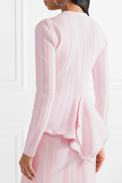 Proenza Schouler Pullover aus Stretch-Rippstrick mit Schößchen Wählen Sie Einen Besten Günstigen Preis WJyBG3