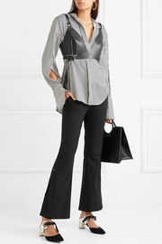 Proenza Schouler Cropped stretch-wool twill flared pants