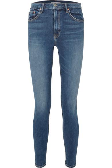 X Revolve Kendall Super Stretch High-Rise Skinny Jean in Dark Denim