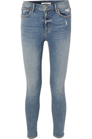Kendall Petite distressed high-rise skinny jeans
