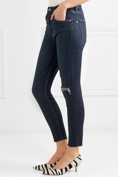GRLFRND Kendall hoch sitzende Skinny Jeans in Distressed-Optik