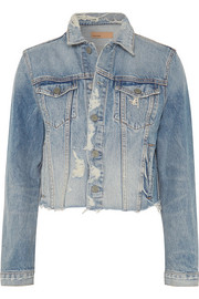 GRLFRND Cara distressed denim jacket