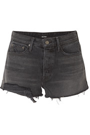 GRLFRND Cindy frayed denim shorts