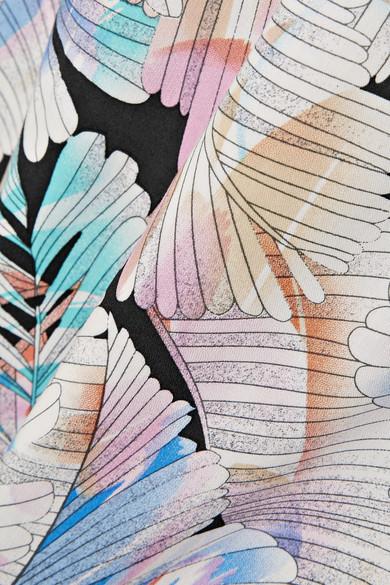 Melissa Odabash Becky Maxikleid aus bedrucktem Voile mit Gürtel