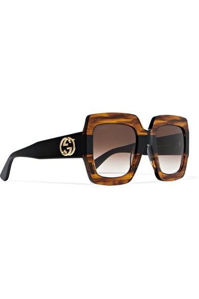ac5425bb3cc Oversized square-frame tortoiseshell acetate sunglasses. £232.52. Zoom In