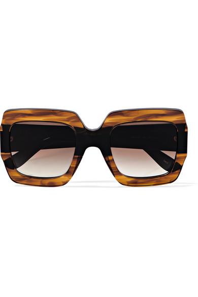 f695786c108 Gucci. Oversized square-frame tortoiseshell acetate sunglasses
