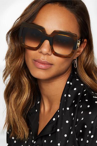 01d762ea115 Gucci. Oversized square-frame tortoiseshell acetate sunglasses. £232.52. Zoom  In