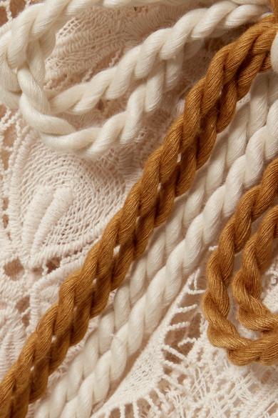 Miguelina Mia Kaftan aus Baumwollspitze in Häkeloptik