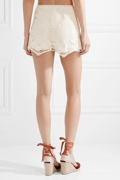 Miguelina Yara Shorts aus gehäkelter Baumwollspitze
