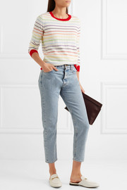 Pigeon striped ribbed cashmere sweater