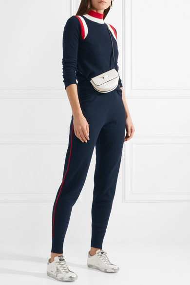 Madeleine Thompson Lapwing Pullover Strips Of Cashmere With Turtleneck And