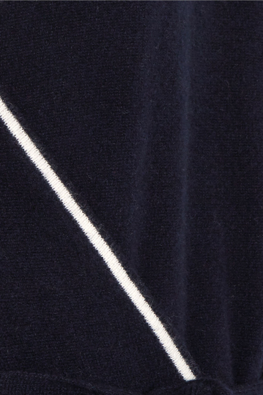 Madeleine Thompson Famingo striped cashmere onesie