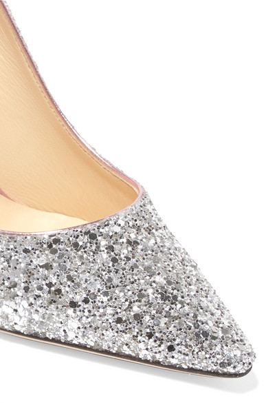 Jimmy Choo Pumps Romy 100 dégradé glittered leather pumps