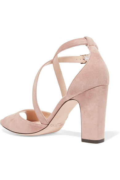 Jimmy Choo Carrie 85 Sandals From Suede