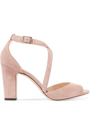 Jimmy Choo Carrie 85 suede sandals