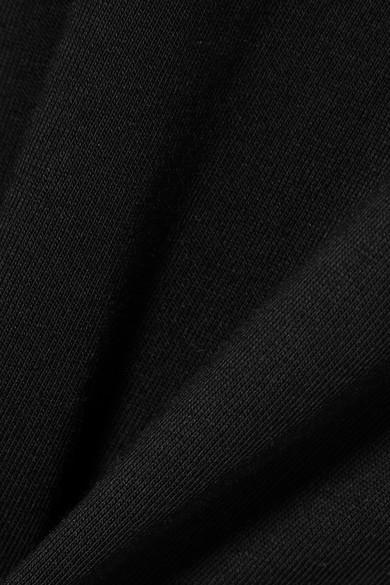 Versus Versace Bedrucktes Minikleid aus Baumwoll-Jersey mit Mesh-Einsätzen